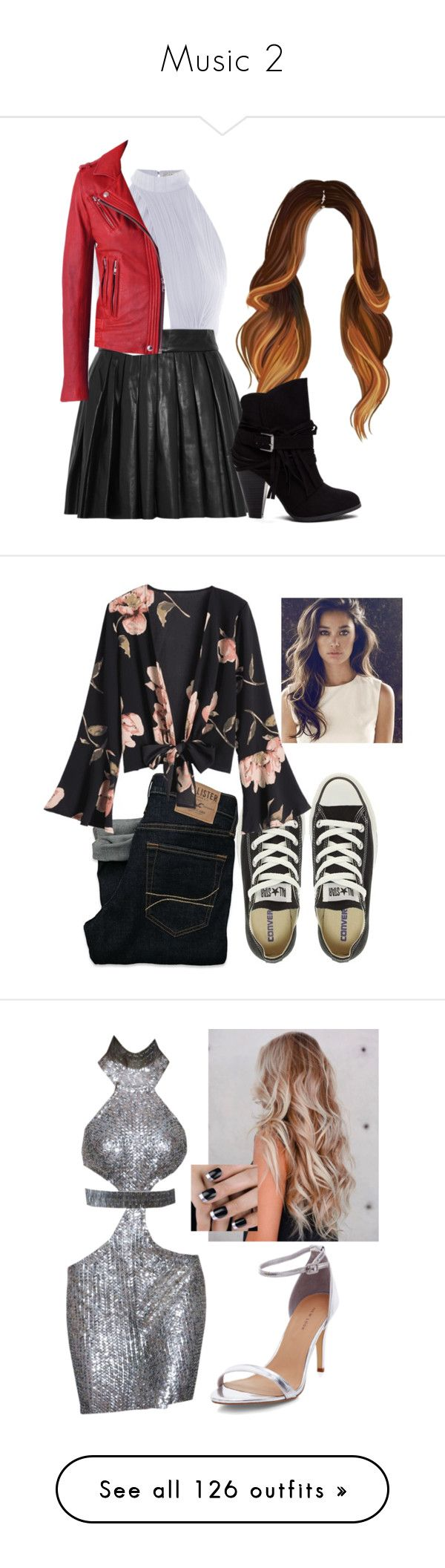 """Music 2"" by mercy-xix ❤ liked on Polyvore featuring Love, Alice + Olivia, Hollister Co., Converse, Helmut Lang, RED Valentino, Rebecca Minkoff, Topshop, MODE C. and River Island"