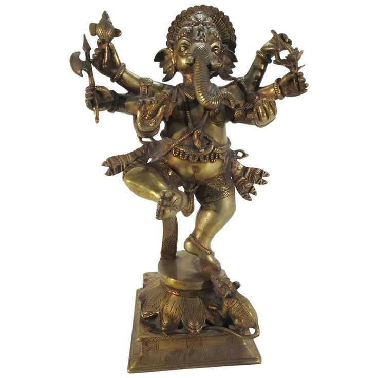 Bronze Dancing Ganesha Statuette | From a unique collection of antique and modern sculptures at https://www.1stdibs.com/furniture/decorative-objects/sculptures/