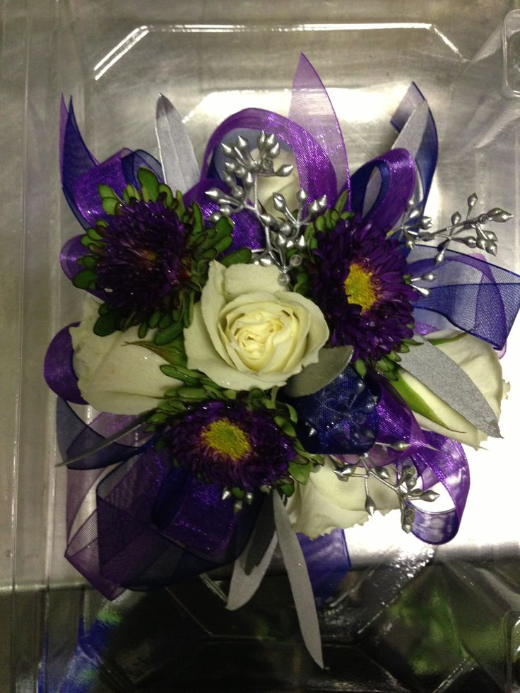 17 Best images about Prom on Pinterest | Delphiniums ... Dark Purple Orchid Bouquet