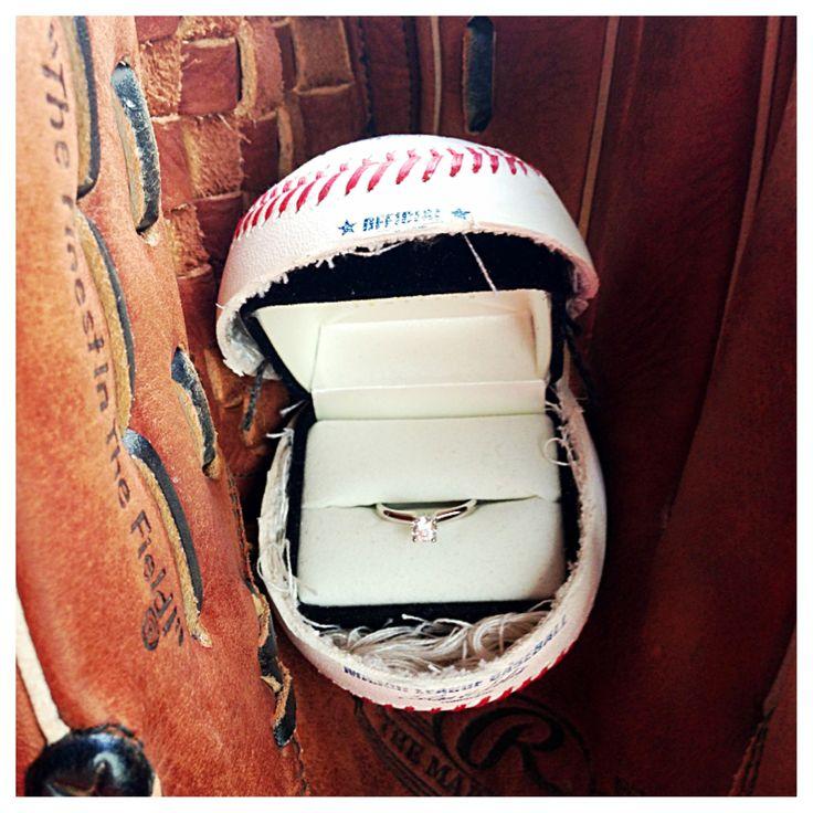 The perfect proposal! #baseball #wedding #weddingring