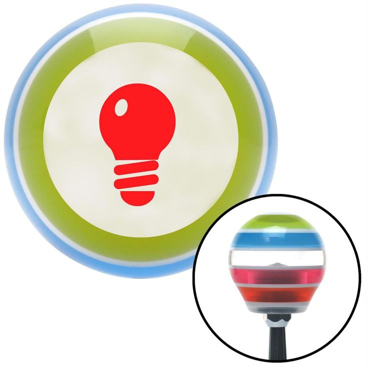 Red Light Bulb Stripe Shift Knob with M16 x 15 Insert