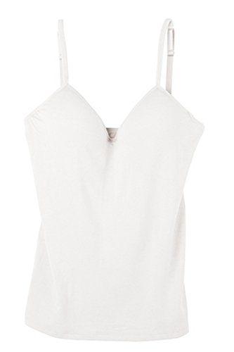 おすすめ SODIAL(R)女性 ブラパッド付き タンクトップ キャミソール ホワイトM
