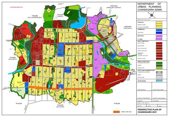 Chandigarh Master Plan 2031 Map