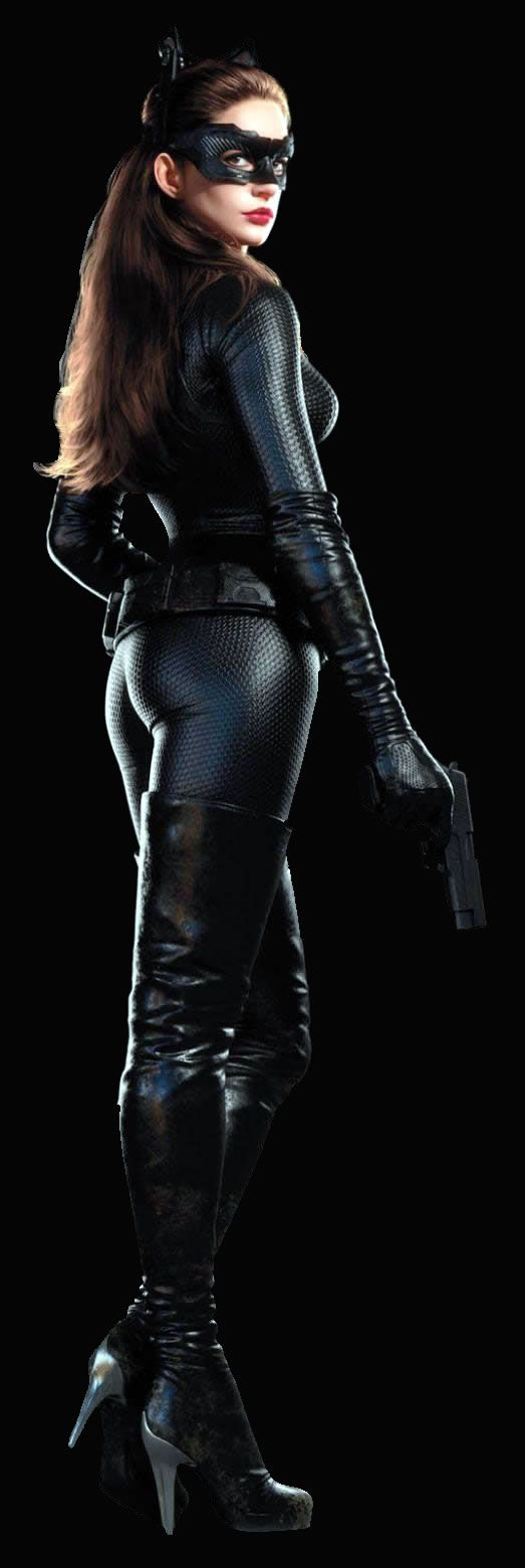A linda e maravilhosa Anne Hathaway, para Batman:O Cavaleiro das Trevas Ressurge, como Selina Kyle, a Mulher Gato <3