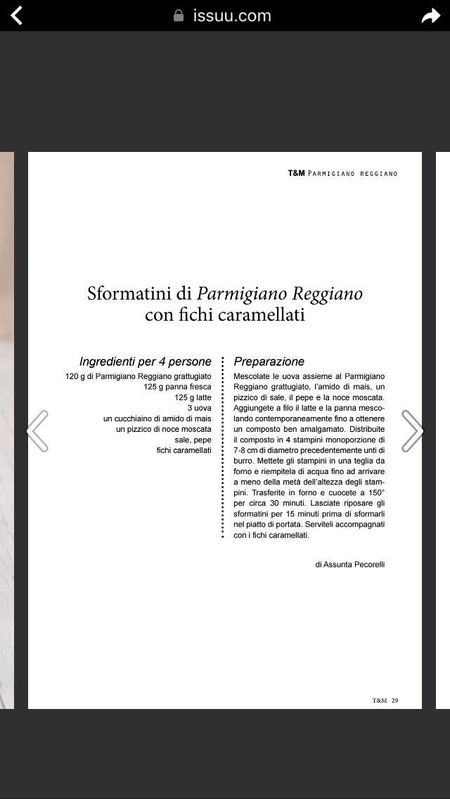 Sformatini di Parmigiano con fichi caramellati