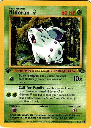 Nidoran Pokemon Card Images | Pokemon Images