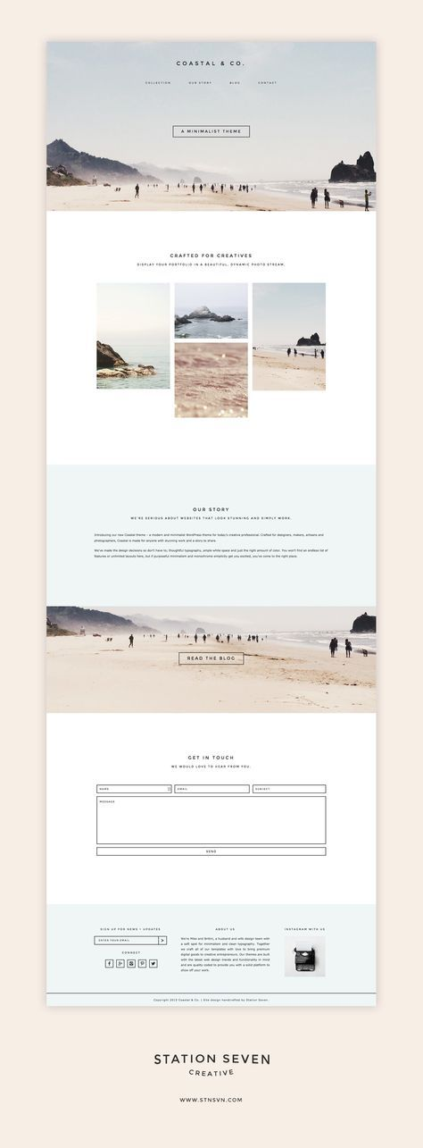 Say hello to Coastal - a modern and minimalist WordPress theme for today's creative professional! Get 10% off at . #webdesign #wordpress