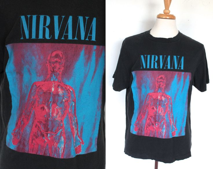 Vintage 1990s Nirvana Shirt // 1992 Silver Tee // 90s Grunge T-Shirt // Nirvana Shirt by TrueValueVintage on Etsy