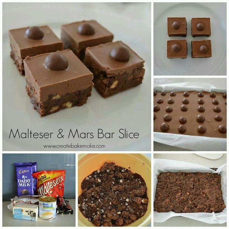 Malteaser & mars bar slice