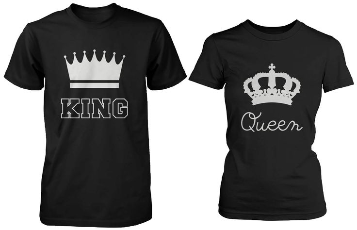 King and Queen Matching Couple Shirts - 365 Printing Inc