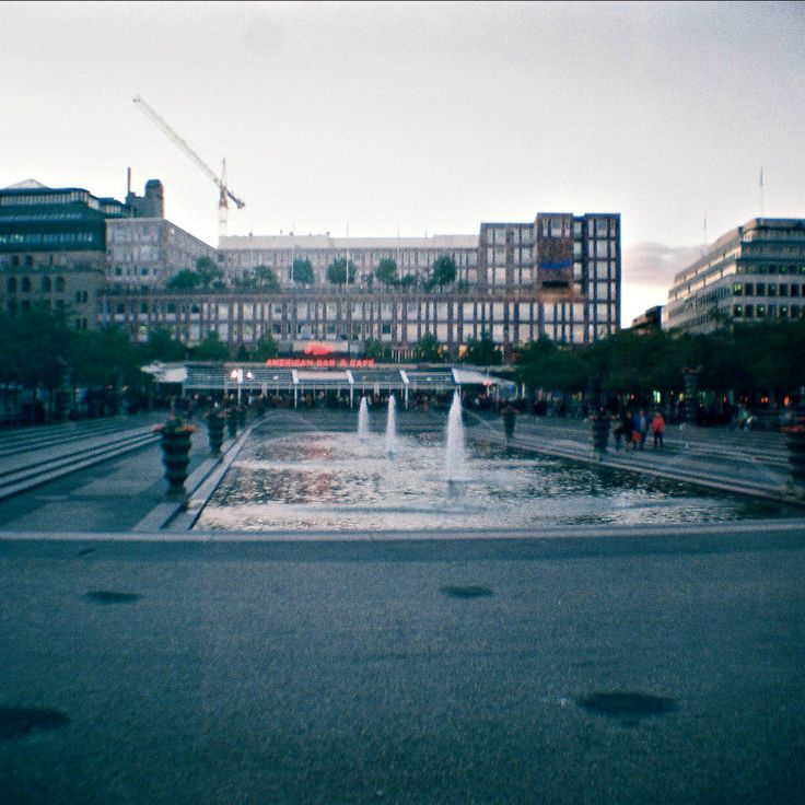Empty Kungträdgarden, Stockholm Lomography, Diana Mini