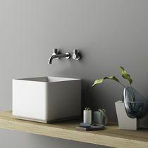 Countertop washbasin / square / Corian® / contemporary