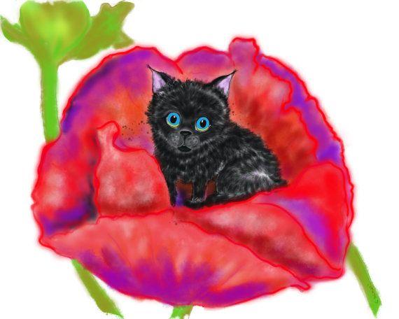 Spookie in the Flowers 3 by TollerStudio on Etsy