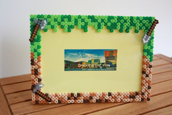 Minecraft marco para fotos. Minecraft Hama Beads. por DecorarteLeon, €10.00