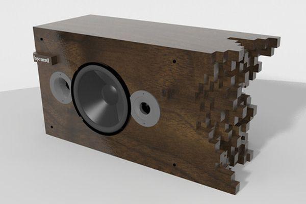 Awesome wooden speakers designed by Matt Dennis: Soundwave Speakers