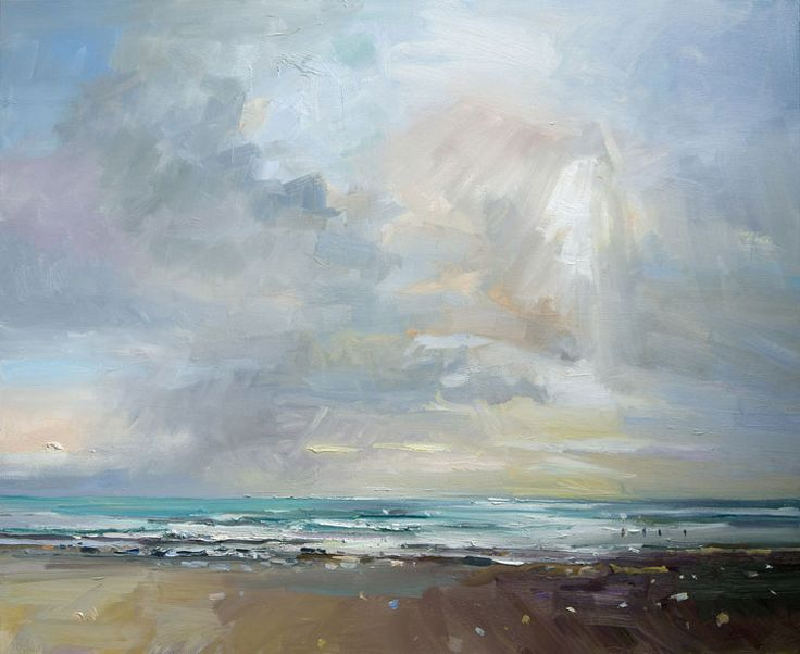 David Atkins: Autumn Sea and Sky, Charmouth, Dorset Campden Gallery, fine art, Chipping Campden, camden gallery, contemporary, contemporary ...