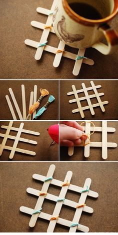 Coasters with sticks for ice cream. With sticks for ice cream, you can do a lot…