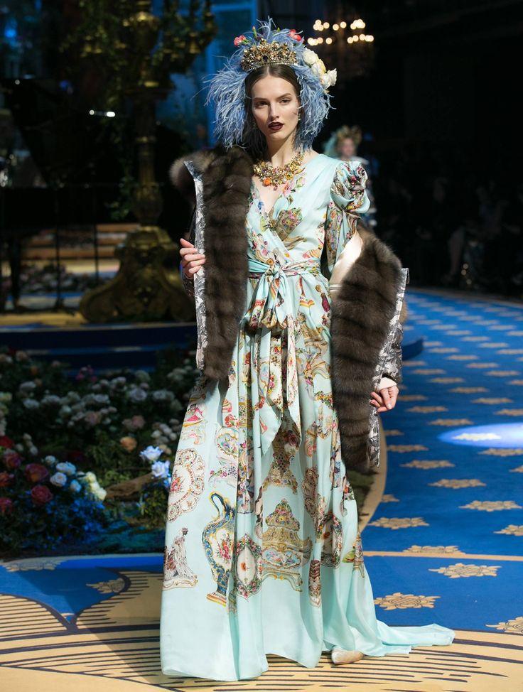 Agne Konciute for Dolce & Gabbana Alta Moda 2017