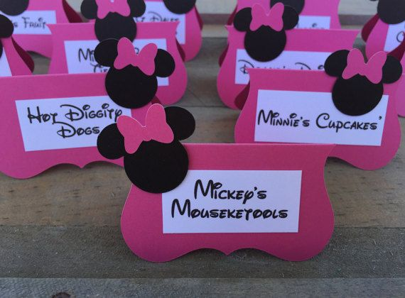 Minnie Mouse Food Labels Set Of 12 Pre Printed