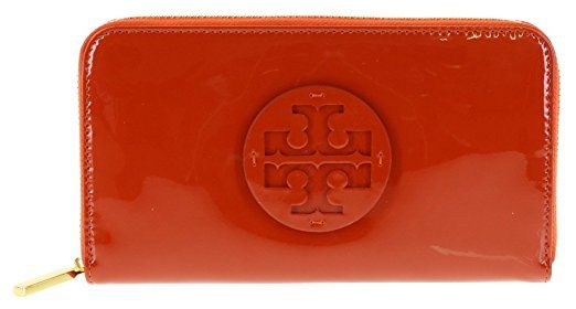 Purse by Tory Burch | Stacked Patent Zip Purse Equestrian Orange RRP £175  | #Ad | purses | purses wallet | purse essentials | purse storage | PurseBlog | Purses and Bags | Purses, wallet |