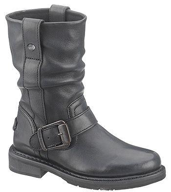Womens & Mens Boots Online - Harley Davidson, Georgia, Magnum, Wolverine & Wellington : Harley-Davidson Women's Brown Darcie Side Zip Boot S...