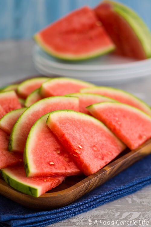 Watermelon - the quintessential summer refresher. Here is how to cut a watermelon and how to choose one. A sweet, refreshing summer treat.