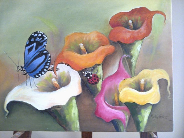 Celebration of lilies in nature painted by yours truly.