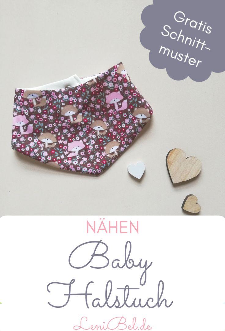 Dreieckiger Schal / Halstuch für Baby und Kleinkind Schnittmuster in 2 Größen gratis   – Lenibel Blog Pinnwand