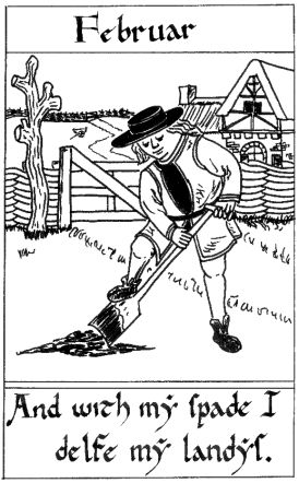 old english garden woodcuts | Labors of the Medieval Calendar Year