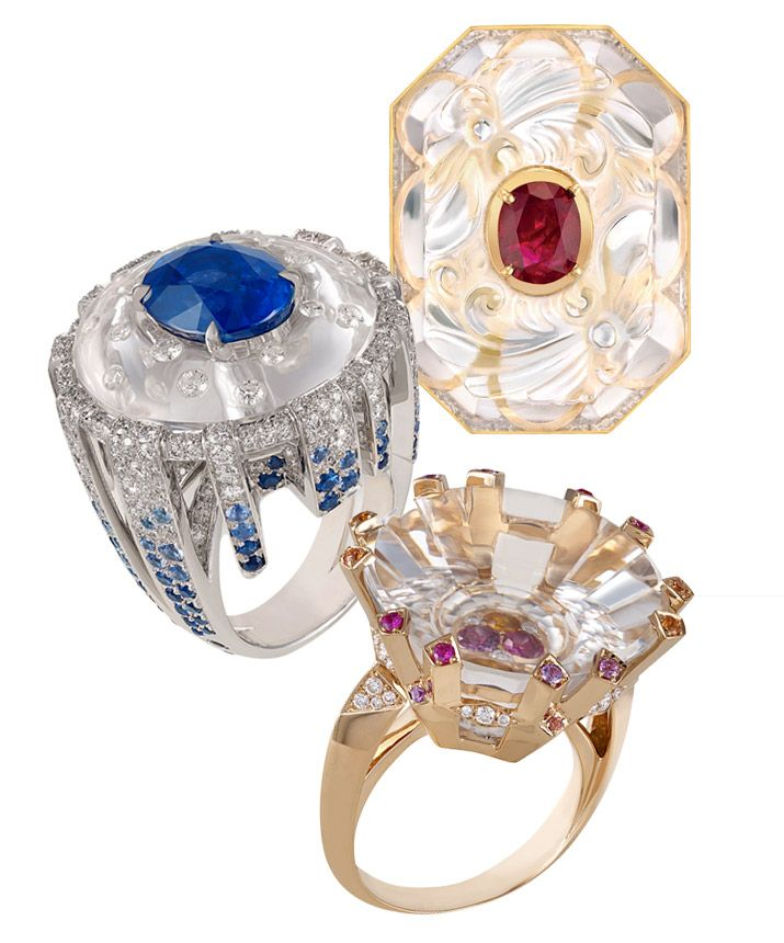 Lorenz Baumer and Chanel rings