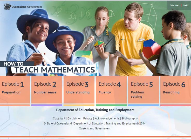 How to teach mathematics. This self-paced coaching module provides Queensland teachers and pre-service teachers with research-validated information and advice to build teacher knowledge, skills and understanding of how to teach mathematics from Prep to Year 10 and in all learning areas. It includes six episodes titled: Preparation, Number sense, Understanding, Fluency, Problem solving, and Reasoning.