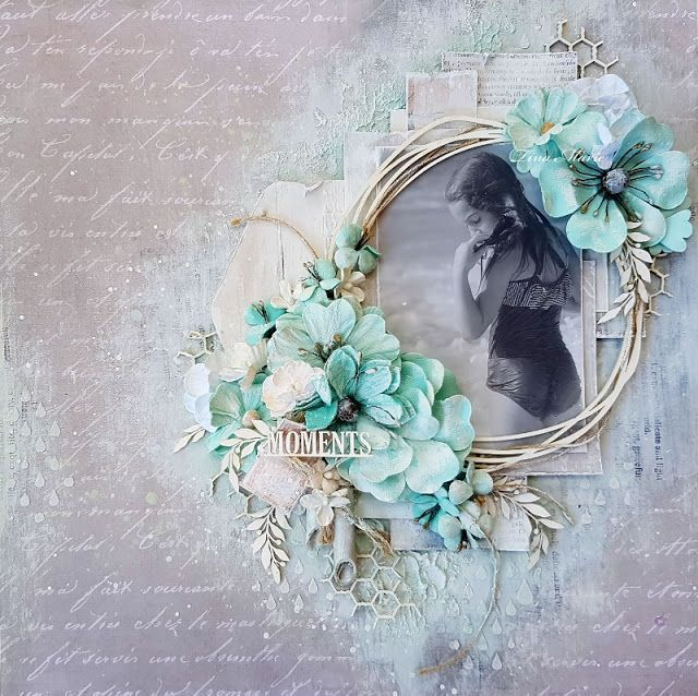 """Tina Marie - Forever and Always: """"Moments"""" Creation for 49andMarket 2018 #weddingscrapbooks"""