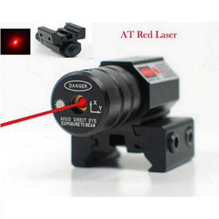 50-100 Metros de Alcance 635-655nm Punto rojo Mira Láser Pistola Ajuste de 11mm Y 20mm Picatinny Rail HuntIing