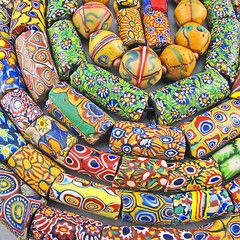 Goodoldbeads collection of african millefiori trade beads