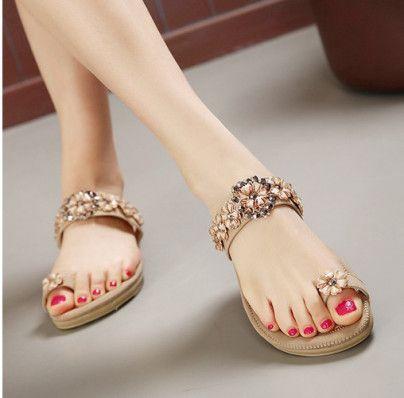 Toe Ring Flats Sandals shoes