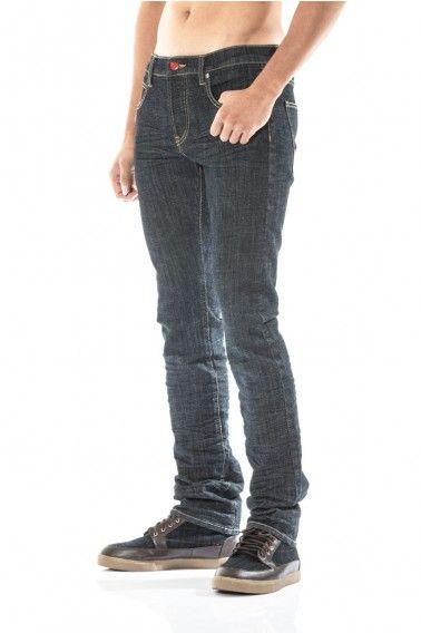 carpe diem. all-season drain pipe jeans in indigo rinsed buffalo.