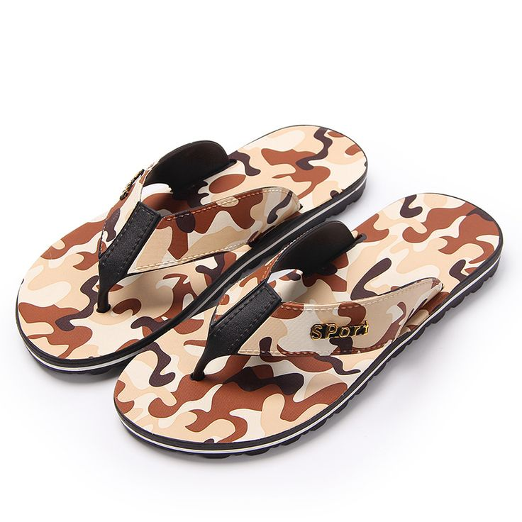 Couple Flip Flops Chinese Moutain Art Print Chic Sandals Slipper Rubber Non-Slip Beach Thong Slippers
