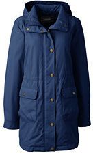 Lands' End Women's Insulated Casual Parka-Ivory Colorblock