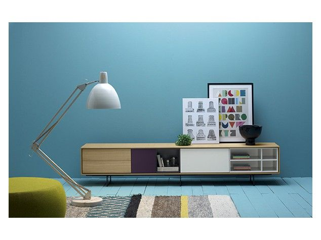 TREKU Sideboard Oak Wood Combined With Colors.