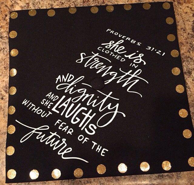 Graduation cap! Bible verse