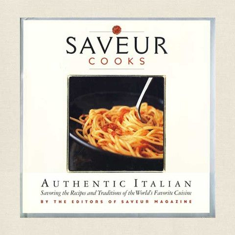 Saveur Cooks Authentic Italian Cookbook - Cookbook Village vintage and used cookbooks store online.