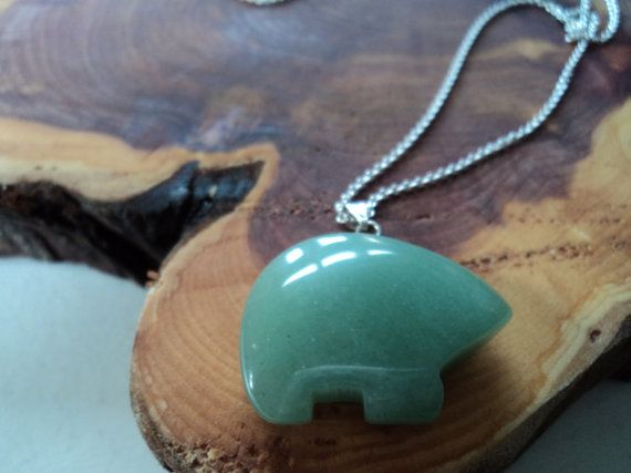 Bear pendant with sterling silver chain and by PatagonianHands, $28.00