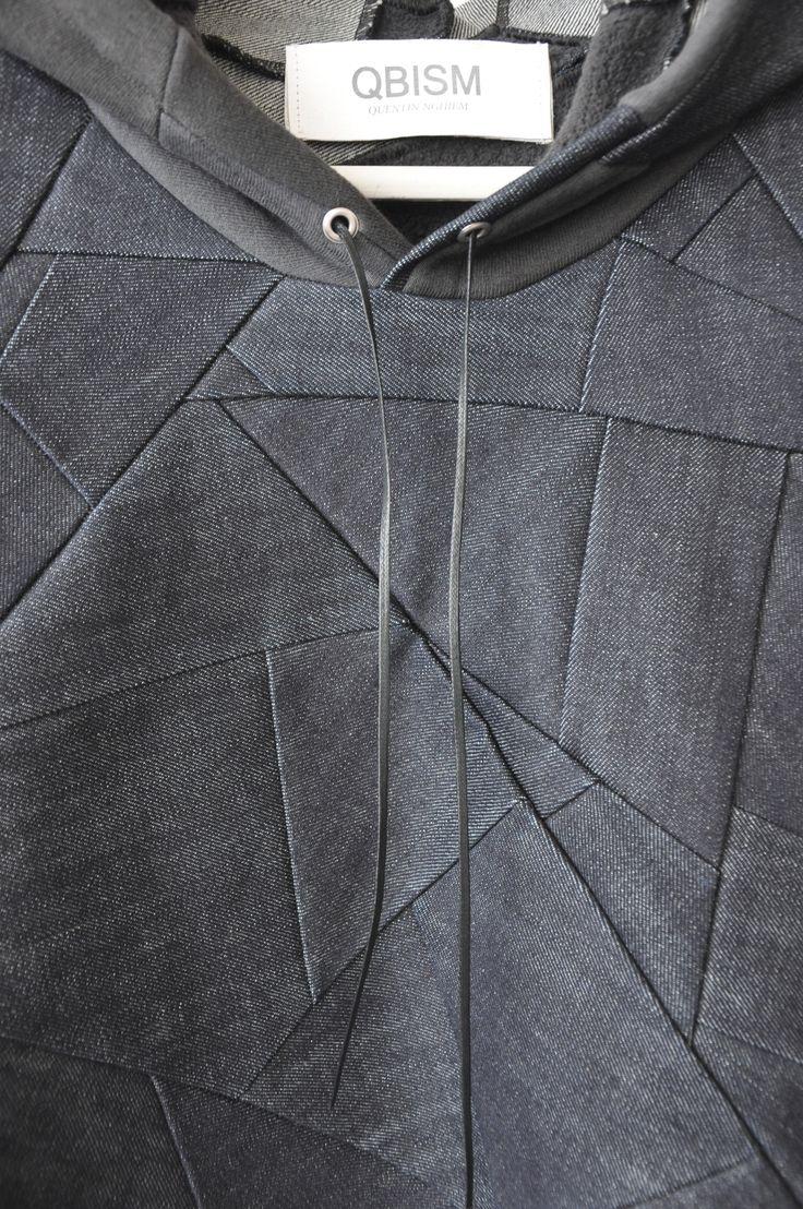Geometric Patchwork Fashion - patten cutting; creative sewing inspiration; fashion design detail // Qbism