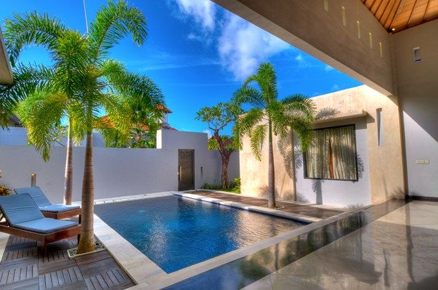 Small Courtyard Pool, Palm Trees  Swimming Pool  Landscaping Network  Calimesa, CA
