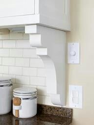 Perfect way to end backsplash when the wall continues! YAY a solution! Because I hate the way it looks when it just stops!