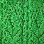ажурное вязание спицами Широкие полосы