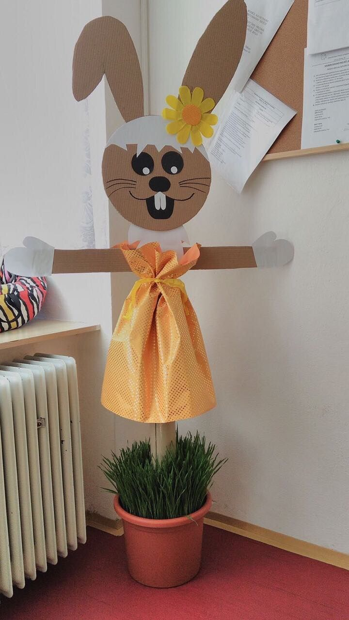 Rabbit made from cardboard, very clever