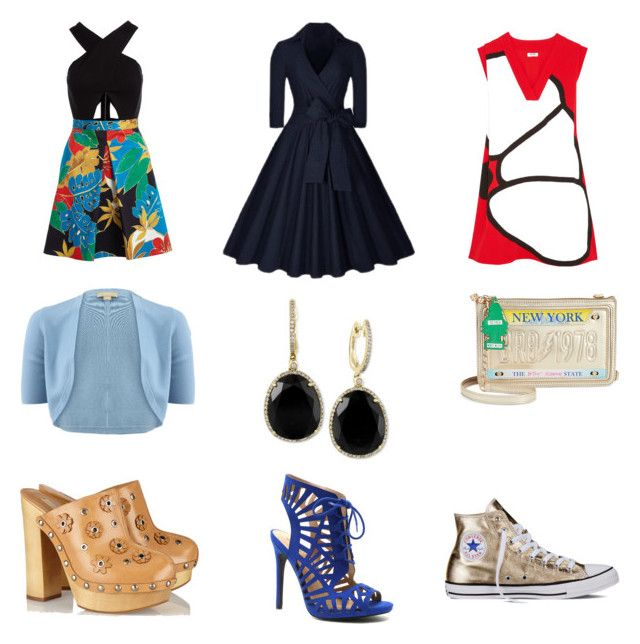 """""""20"""" by drile on Polyvore featuring Alice + Olivia, Michael Kors, Effy Jewelry, Qupid, Kenzo, Betsey Johnson and Converse"""