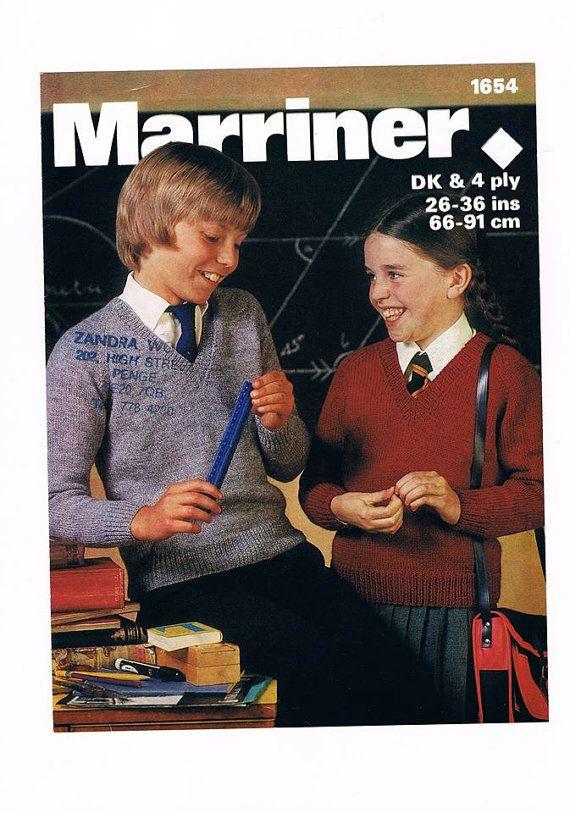 Unisex School Jumper, Girls School Jumper, Boys School Jumper, Childrens Sweater. School Jumper. Knitting pattern only.