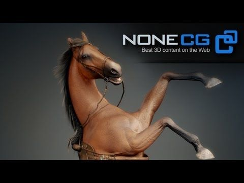 ▶ Horse 3D Model by NoneCG - YouTube